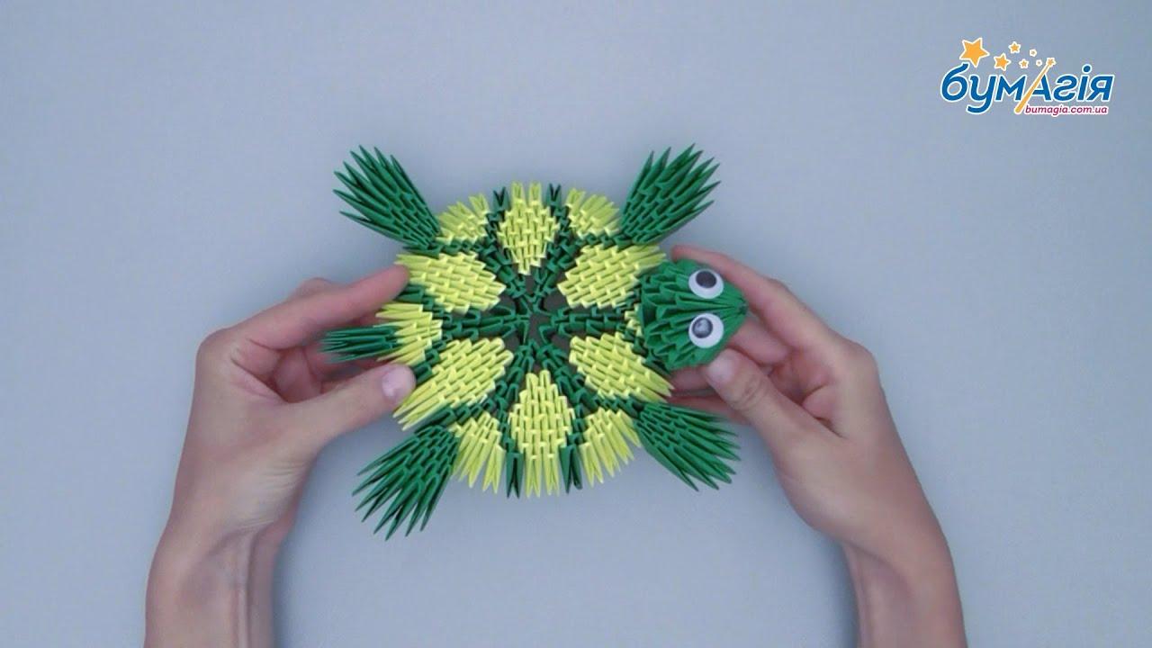 оригами схема сборки зайчика 3d