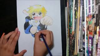 Speed Drawing zatch bell (gash bell)