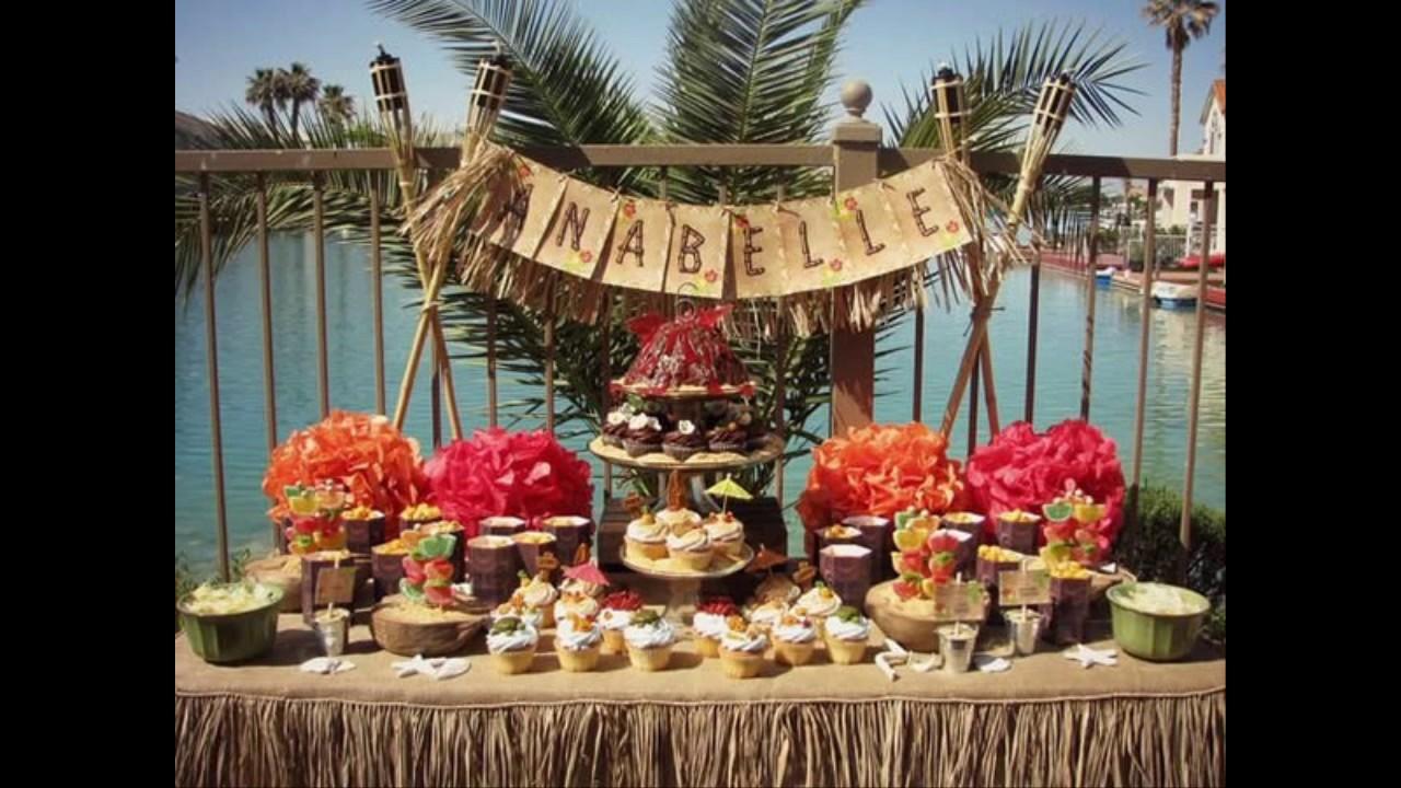 MARAVILHOSA DECORA u00c7ÃO FESTA HAVAIANA YouTube -> Decoração De Festa Havaiana Simples