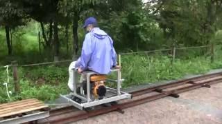 """15インチゲージ 小型ガソリン機関車の試運転 @愛知県下水道科学館 15""""gauge Gasoline Loco"""