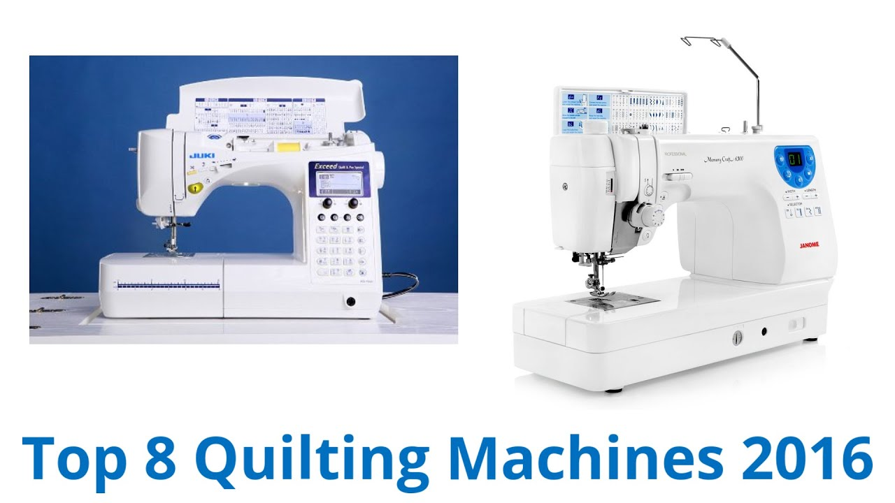 8 Best Quilting Machines 2016 - YouTube : what is the best quilting machine - Adamdwight.com