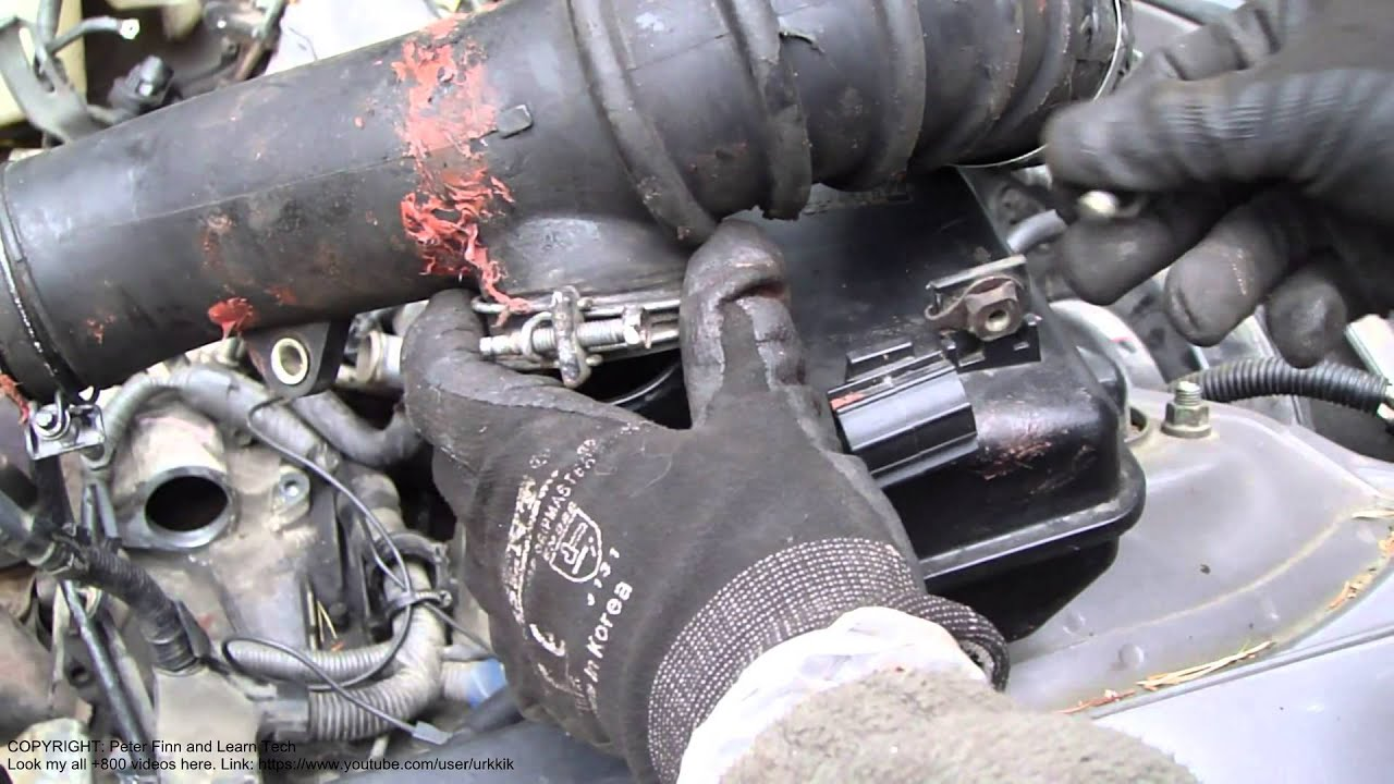 how to disassemble intake hose toyota camry 2 2 liter engine years 1991 to 2002  [ 1280 x 720 Pixel ]