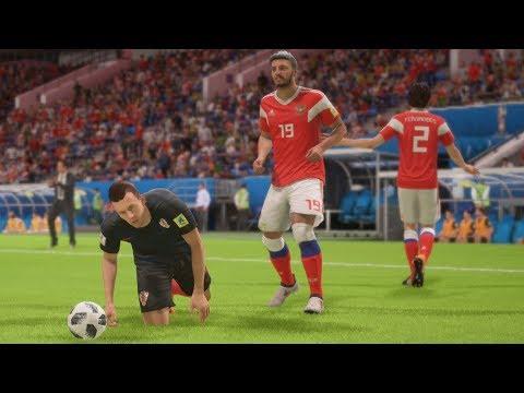 World Cup 2018 Russia vs Croatia - World Cup Quarterfinals Full Match Sim (FIFA 18)