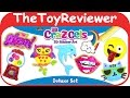 3D Cra-Z-Gels Sticker Art Deluxe Set Window Clings Cra-Z-Art Unboxing Toy Review by TheToyReviewer