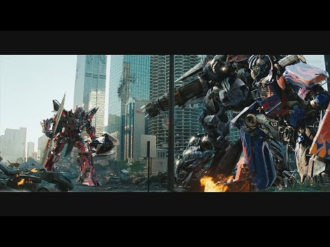 Transformers: Dark of the Moon 2011 Final Battle  Only Action 4K