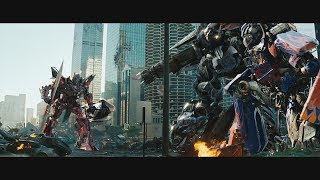 Transformers Dark of the Moon (2011) Final Battle - Only Action [4K]