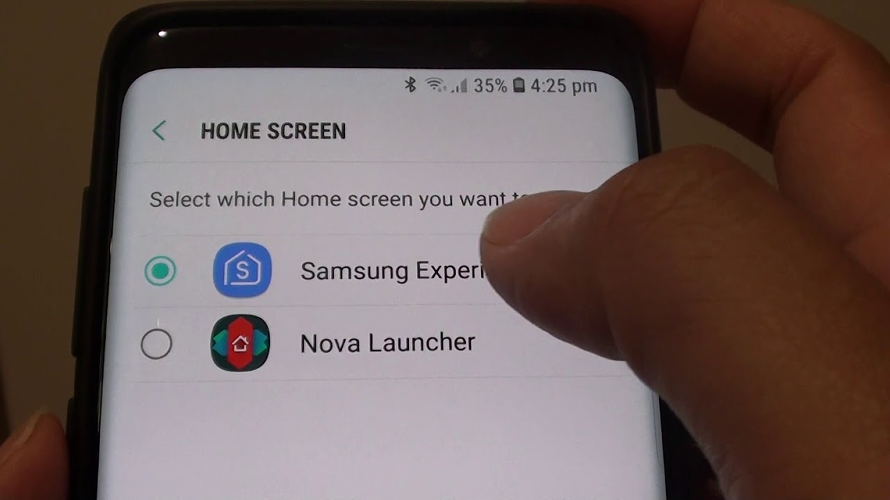 Samsung Galaxy S9 / S9+: Change Default Home Screen Launcher App (Samsung  Experience Home)