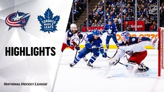 Blue Jackets @ Maple Leafs 10/21/19 Highlights