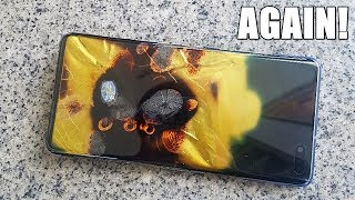 Samsung Galaxy S10 5G CATCHES FIRE