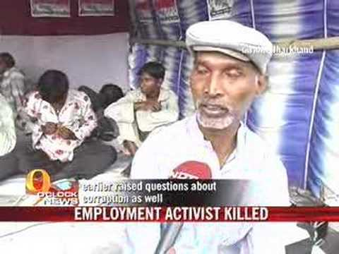 NREG activist killed in Jharkhand
