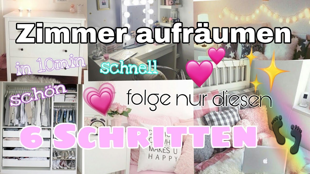 zimmer schnell aufr umen tipps in 6 schritten youtube. Black Bedroom Furniture Sets. Home Design Ideas