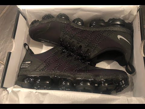 NIKE AIR VAPORMAX RUN UTILITY SNEAKER REVIEW, UNBOXING, ON