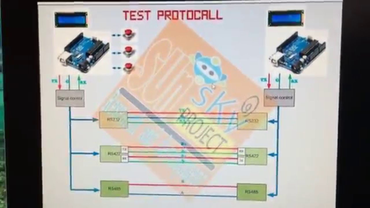 Arduino Rs232 Rs485 Send Data Test Youtube Rs 485 Diagram 2wire