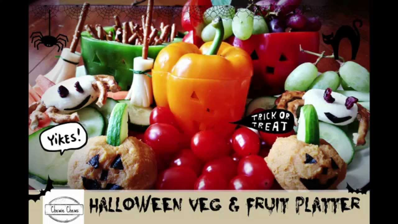 easy healthy halloween snack ideas cute halloween fruit and vegetable platter chewie chews