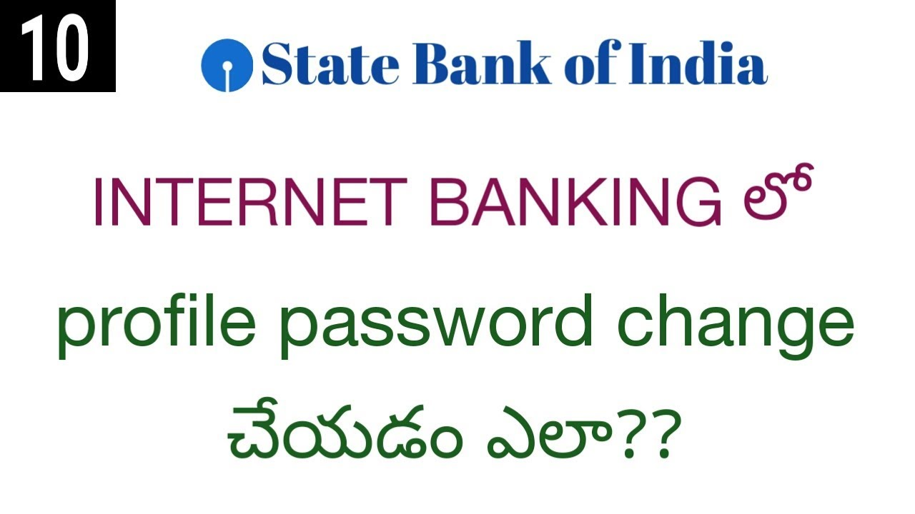 state bank of india change password