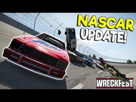 HUGE NASCAR CRASHES & MOD UPDATE! - Next Car Game: Wreckfest Gameplay - Wrecks & Races