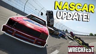 HUGE NASCAR CRASHES & MOD UPDATE! - Next Car Game: Wreckfest Gameplay - Wrecks & Races