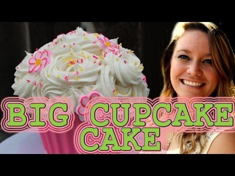 Big Cupcake Cake How To