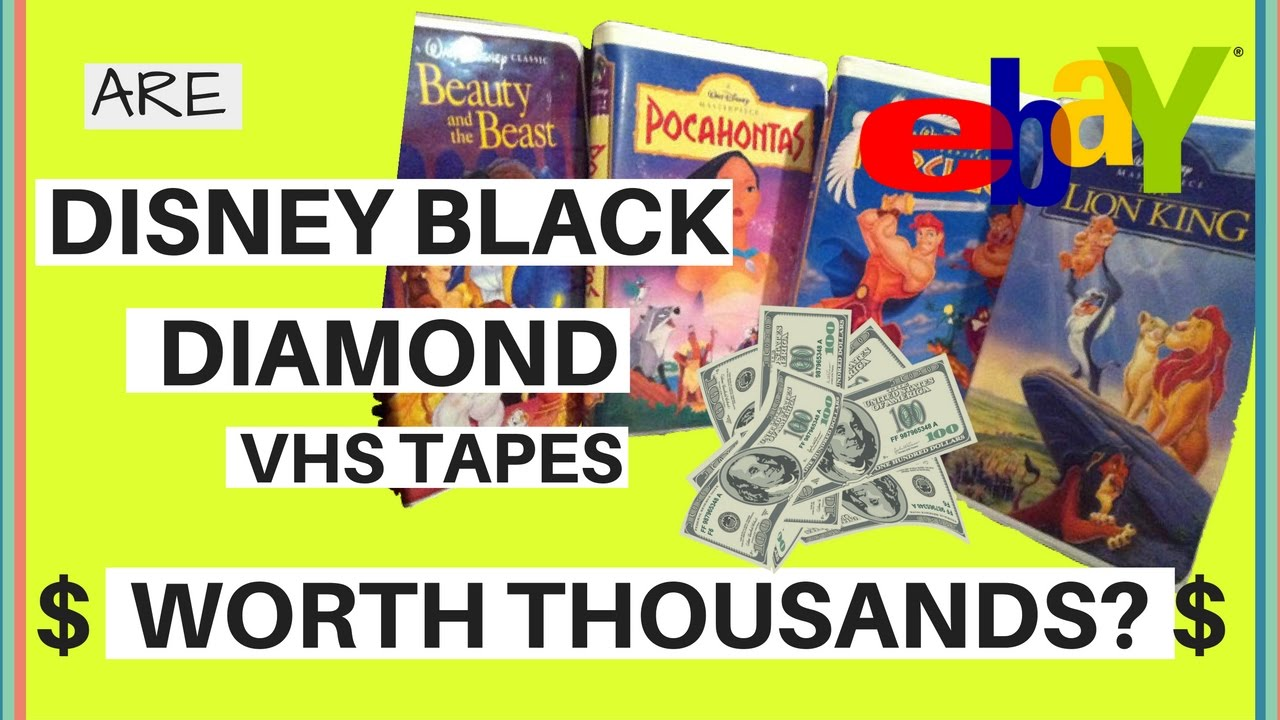 Where Can I Sell My Vhs Tapes >> The Truth Are Disney Black Diamond Vhs Tapes Selling For Thousands On Ebay Video