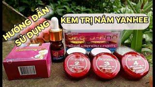 ❤Review❤Bộ kem trị nám sạm da Yanhee Thái Lan - ☎096.7869.460 -  HƯỚNG DẪN bôi kem trị nám Yanhee đỏ