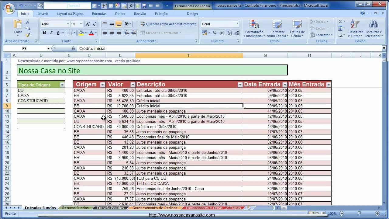 planilhas de controle de gastos de obra  vers u00e3o 1 4 1