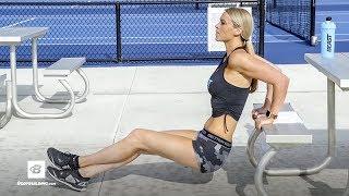 Outdoor Picnic Table Workout | IFBB Bikini Pro Tabitha Campominosi
