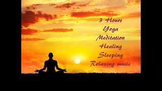 3 hours Yoga music with nature water, meditation, relax, concentration, spiritual, healing music