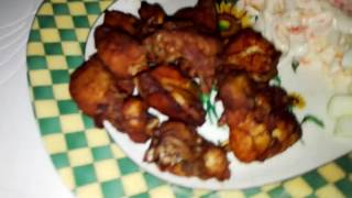 Quick saturday lunch: fried chicken w/coleslaw