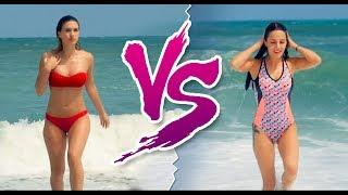 Mayo Giyen Kadın vs Bikini Giyen Kadın
