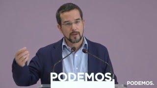 Rueda de prensa de Sergio Pascual sobre los próximos procesos internos de Podemos