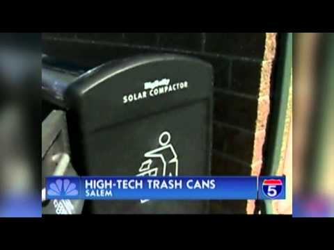 Salem Purchases Solar Powered Trash Cans - Aug 24th, 2012