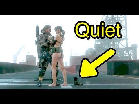 MGSV: Phantom Pain - Quiet Dancing in Rain Easter Egg (Metal Gear Solid 5)