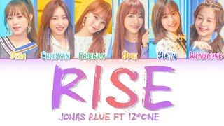 Jonas Blue Ft. Iz*one (아이즈원) Rise Lyrics (color Coded |eng)