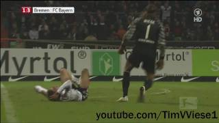 tim wiese foul an thomas mller hd 720 p