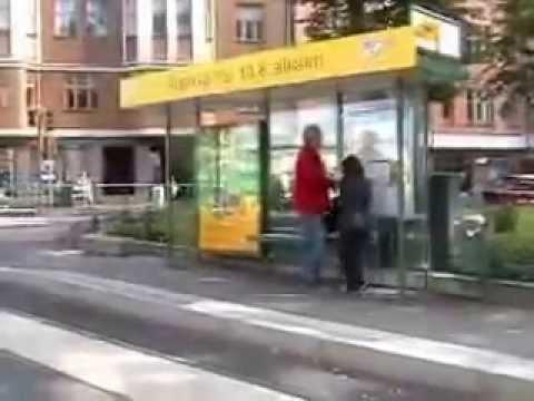 Helsinki Tram 9. Маршрут трамвая № 9 в Хельсинки. 08.2008