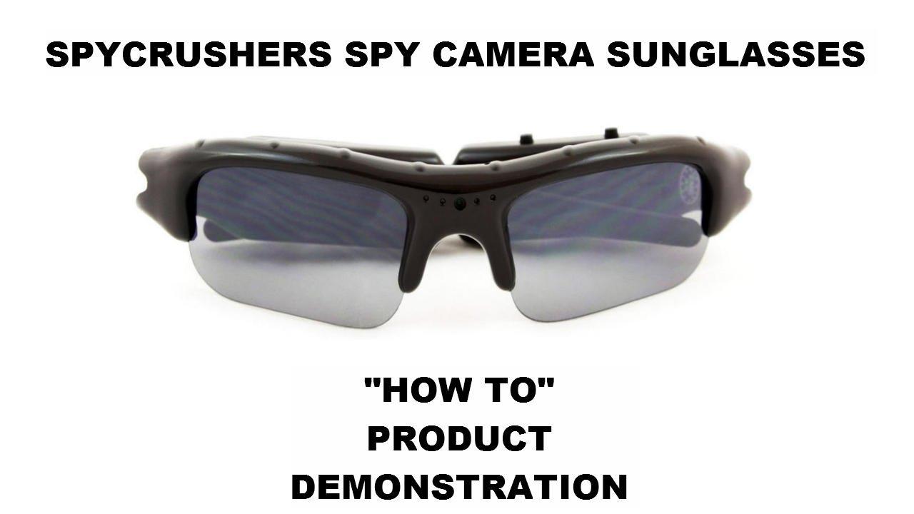 d0c456e510ef0 SpyCrushers Spy Camera Sunglasses  Product Demonstration - YouTube