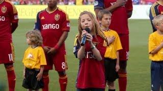 11-year-old Lexi Walker sings National Anthem at Real Salt Lake Game