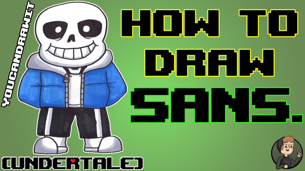 How To Draw Sans From Undertale YouCanDrawIt 1080p HD