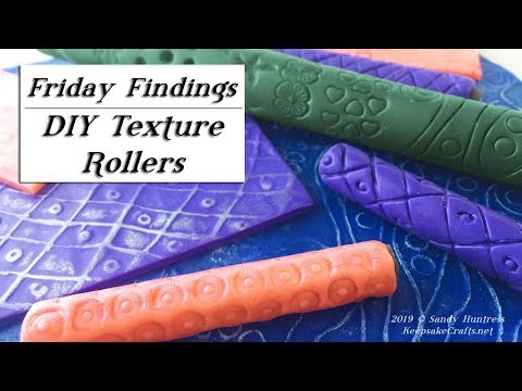 DIY Texture Rollers for Embossing on Polymer Clay-Friday Findings