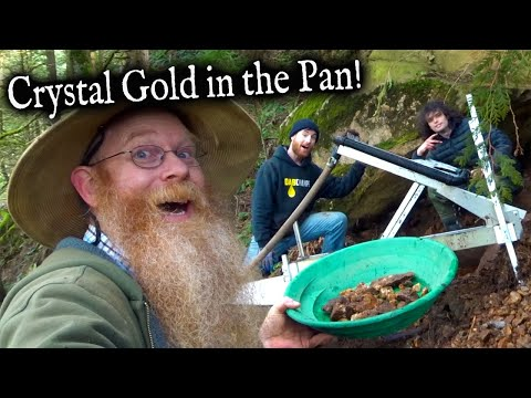 Gold Panning And High Banking Crazy Good Crystal Gold!