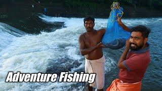 കുത്തിയൊഴുകുന്ന വെള്ളത്തിൽ നിന്ന് ആരോൻ മീൻപിടിച്ച് വറുത്തടിച്ചു✌️ Adventure Fishing and Cooking |