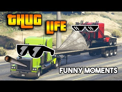 GTA 5 ONLINE : THUG LIFE AND FUNNY MOMENTS (WINS, STUNTS AND FAILS #14)