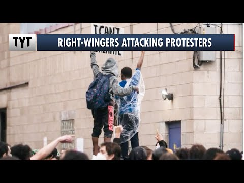 Right-wingers Using Cars To Attack Peaceful Protesters