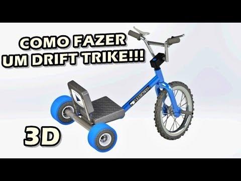 Como Fazer um Drift Trike - Projeto em 3D !!!