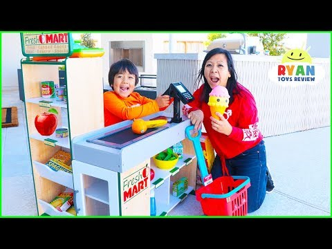 Ryan Pretend Play Grocery Store Shopping Super Market Toys! - Видео приколы ржачные до слез