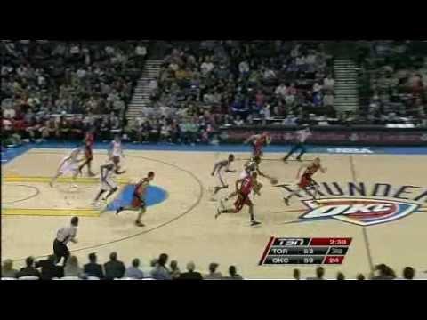 Toronto Raptors Vs Oklahoma City Thunder Dec 19 08 Youtube