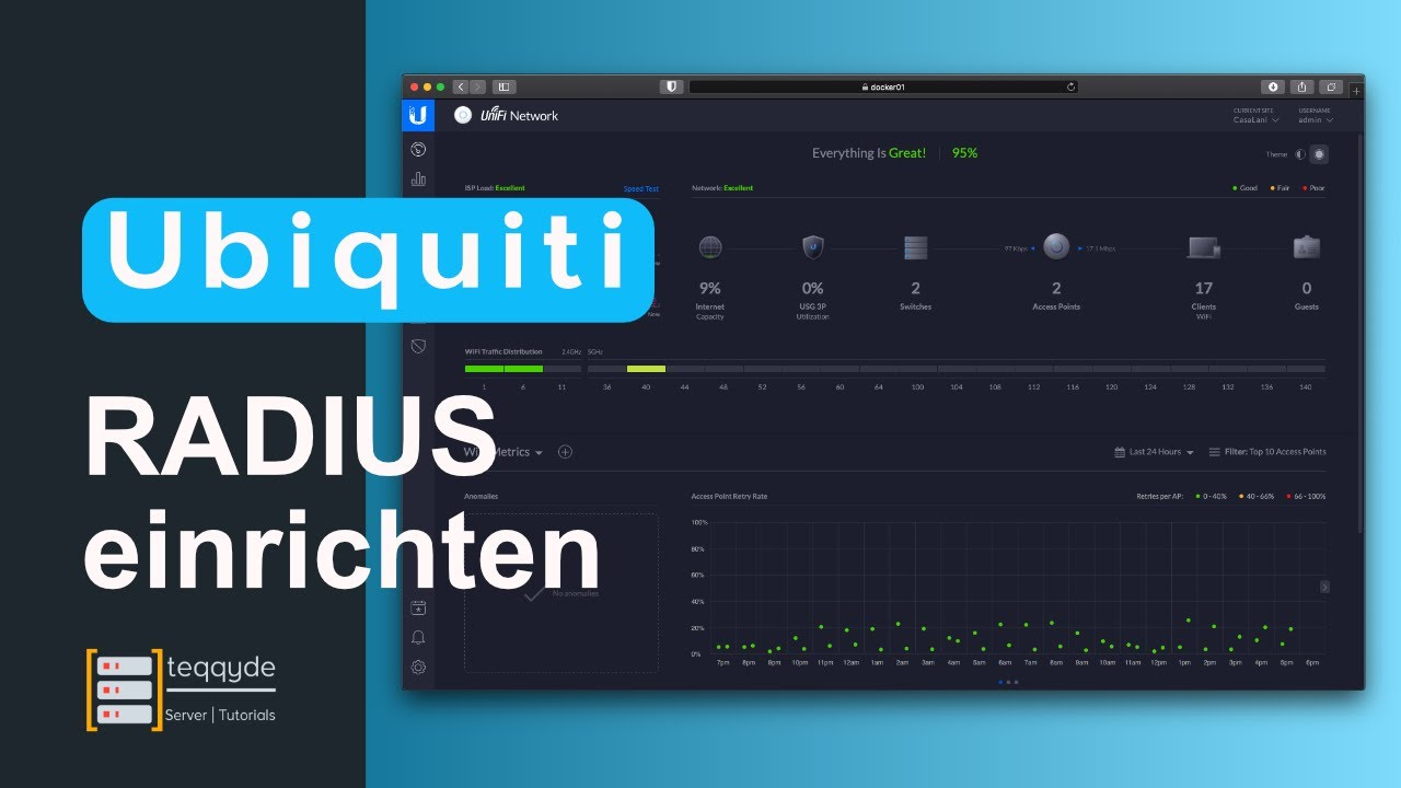 Unifi - RADIUS Server Authentifizierung bei WLAN - Tutorial