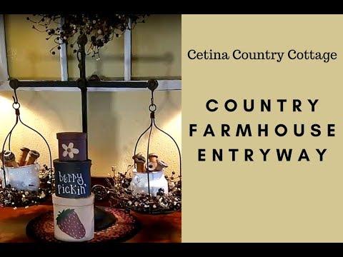Country Farmhouse Entryway Tour