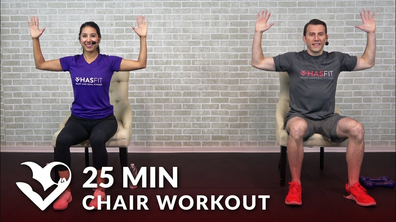 Sitting Down Chair Exercises Covers For Home 25 Min Workout Seated Exercise Seniors Elderly Everyone Else