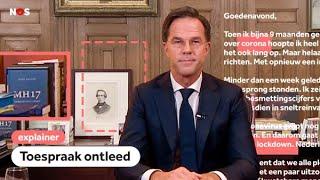 De verstopte boodschap in Ruttes lockdown-speech